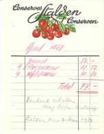 """Rechnung  """"Conserves Stalden Conserven""""                1953 - Switzerland"""