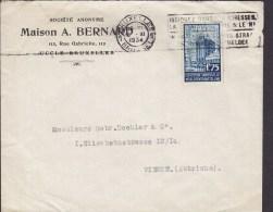 Belgium MAISON A. BERNARD BRUXELLES Brussel 1934 Cover Lettre WIEN Vienne Austria 1.75 Fr. Exposition Universelle Timbre - Belgien