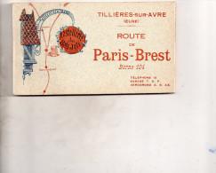 """Cpa  27  Tillieres-sur-avre """" Hotellerie Du Bois-joli """" Beau Carnet De 12 Cpa Detachables, Route De Paris-brest - Tillières-sur-Avre"""