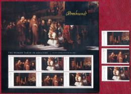 MNH  POSTFRISCH   SANS CHARNIERE     REMBRANDT  LARGE BLOCK AND STAMPS - Rembrandt