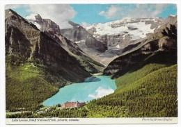 (RECTO / VERSO) LAKE LOUISE EN 1977 - CPSM GF - Lac Louise