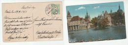 1913 HUNGARY Stamps COVER ( Postcard BUDAPEST ) - Covers & Documents