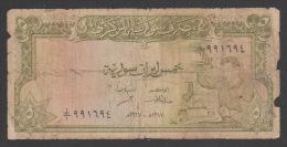 SYRIA ,SYRIE, 5 Syrian Pounds (1967 ),No:94b ,PR. - Siria