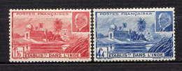 INDE - N° 126/127* - TEMPLE PRES DE PONDICHERY / Ml PETAIN - India (1892-1954)