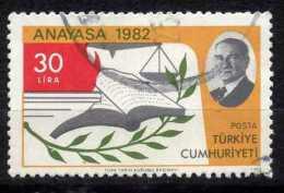 Turkey 1983 - Mi. 2628 O, Olive Branch   Scales   Book (Constitution) - 1921-... Republiek