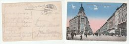 1915 HUNGARY Forces  FELDPOST COVER (postcard BUDAPEST Andrassy Strasse, Shops, People)  Military Stamps - Covers & Documents