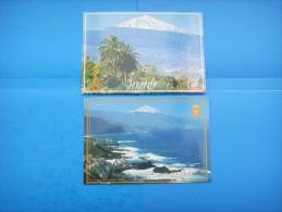 41 Iles Canaries : Mesa Del Mar Y Valle De La Orotava; El Teide : Recto Verso :  2 Cartes - Tenerife