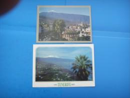 45)  Iles Canaries :  La Orotava; El Teide : Recto Verso :  2 Cartes - Tenerife