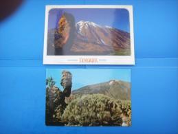 49)  Iles Canaries :  Las Canadas Del Teide , Rocas  : Recto Verso :  2 Cartes - Tenerife