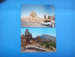 51)  Iles Canaries :  Las Canadas Del Teide , Rocas  : Recto Verso :  1 Carte + 1 Photo 1995 - Tenerife