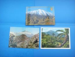 61)  Iles Canaries :  El Teide : Recto Verso :  3 Cartes - Tenerife