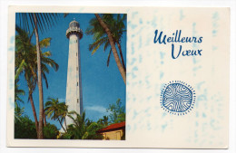 Nouvelle-Calédonie-Ile De Lumière--NOUMEA--1970--Carte De Voeux--Meilleurs Voeux--Beau Phare N° V.9 éd NC - Nouvelle-Calédonie