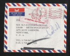 Pakistan To USA Returned To Sender Meter Franking Air Mail Postal Used Cover Reason For Non Delivery Postmark U S A - Pakistan