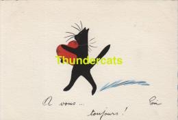 CPSM ILLUSTRATEUR POM DESSIN  CHAT CAT KAT KATZE ARTIST SIGNED - Gatti
