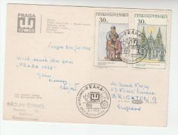 1968 Czechoslovakia PRAG PHILATELIC SYMPOSIUM CARD With Special Pmk Illus MAIL COACH  Cover Art Stamps - Czechoslovakia