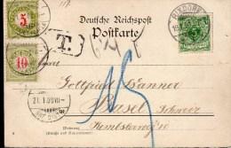 CARTE POSTALE TAXEE 1900 - POSTEE A RIXDORF (VUE DE RIXDORF) - TAXEE A L'ARRIVEE A BALE - - Deutschland