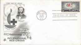USA RED CROSS Sc 1239 FDC 1963 - Croix-Rouge
