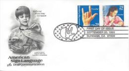 USA DEAFNESS/SIGN LANGUAGE Sc 2784a FDC 1993 - 1991-2000