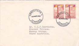Denmark 1953 Cover Sent To South Australia FDC - FDC