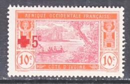 FRENCH IVORY COAST    B 1   *   RED CROSS - Ivory Coast (1892-1944)