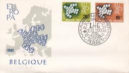 Belgium 1961 Europa FDC - Europa-CEPT