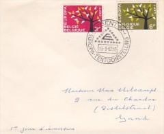 Belgium 1962 Europa Addressed FDC - Europa-CEPT