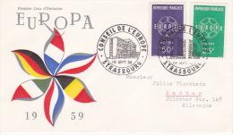 France 1959 Europa FDC - Europa-CEPT