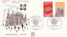 France 1972 Europa FDC - Europa-CEPT