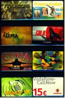 8 Verschiedene Prepaid Card Telefonkarten  -  Vodafone  -  Master Call  -  3 X Lycatel  -  Just Afrika   (8) - Télécartes