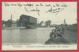 Saint-Ghislain - Chargement Automatique Et Nouvelles Voies Aériennes  -1907 ( Voir Verso ) - Saint-Ghislain