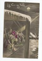 Cp , LA NUIT DE NOEL , Illustrateur , Signée , écrite 1918 , Crèche , Jesus , Art , Peinure & Tableaux - Noël