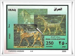 IRAQSTAMPS : 2005  STMPSET + SOUVENIR SHEET-  IRAQ  CIVILSATION - 2005 (MNH) - Iraq
