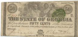 50 CT.  STATE OF  GEORGIA  1863   VF /BB