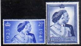 GREAT BRITAIN GRAN BRETAGNA 1948 MARRIAGE KING GEORGE VI QUEEN ELIZABETH 25th ANNIVERSARY FULL SET SERIE COMPLETA MNH - 1902-1951 (Re)