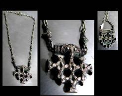 Collier En Vermeil  - Pièce Unique De Créateur Signé / Gold-platted Silver Necklace Unique Jewel From A Creator - Art Africain