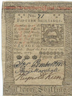 15 SHILL  PHILADELPHIA  1773      VF/q BB (!!)