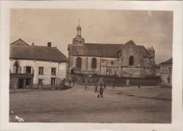Grande Photo Avril 1917 VIEL-SAINT-REMY (près Novion-Porcien) - Soldats Allemands Sur La Place (A97, Ww1, Wk 1) - Rethel