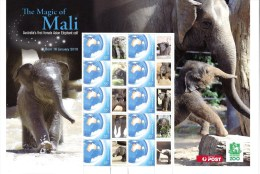 Australia 2010 The Magic Of Mali - Elephant Calf A4 Sheet MNH - Ungebraucht