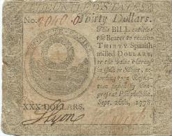 30 $  PHILADELPHIA  1778  VG/F    B+
