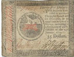 35 $  CONTINENTAL CONGRESS  1778  F /   B+