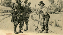 EDS - Chasseurs Parlant Avec Un Paysan - Hunting