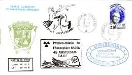 TAAF CROISEUR COLBERT En Escale Aux TAAF Obl Colbert 08/11/88 (rare Cachet De L'escale Sur Le Devant De L'enveloppe) - Poste Navale