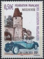 FRANCE Poste 3576 ** Mulhouse Voiture Car Bugatti Coupé Cabriolet D´Estiers Musée Automobile Tour Bolwerk - Unused Stamps