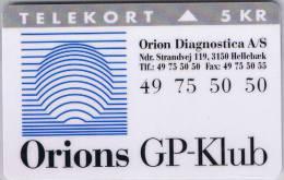 Denmark, KP 175, Orion Gp Club, Mint, Only 5.500 Issued. - Denmark