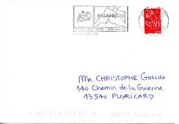 FRANCE. Enveloppe Ayant Circulé Avec Flamme De 2005. Tour De France à Briançon. - Ciclismo