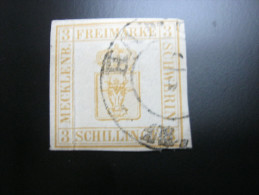 3 Schilling , Sehr Schönes Exemplar Gestempelt - Mecklenburg-Schwerin