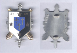 Insignes du 21e Bataillon du Mat�riel