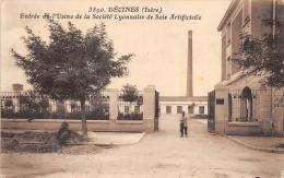 RHONE  69  DECINES  ENTREE DE L'USINE DE LA SOCIETE DE LA SOIE ARTIFICIELLE - Autres Communes