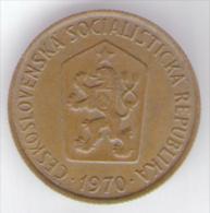 CECOSLOVACCHIA 50 HALERU 1970 - Cecoslovacchia