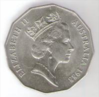 AUSTRALIA 50 CENTS 1988 - Moneta Decimale (1966-...)